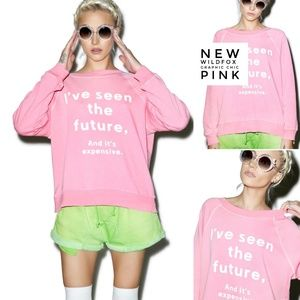 Wildfox Sweaters - Wildfox I've Seen The Future & Its Expensive Pink